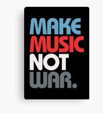 Make Music Not War (Prime) Canvas Print