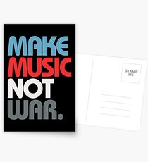 Make Music Not War (Prime) Postcards