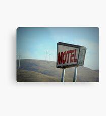 Retro Motel Metal Print