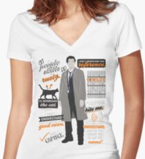 """My """"People Skills"""" Are """"Rusty"""" Women's Fitted V-Neck T-Shirt"""