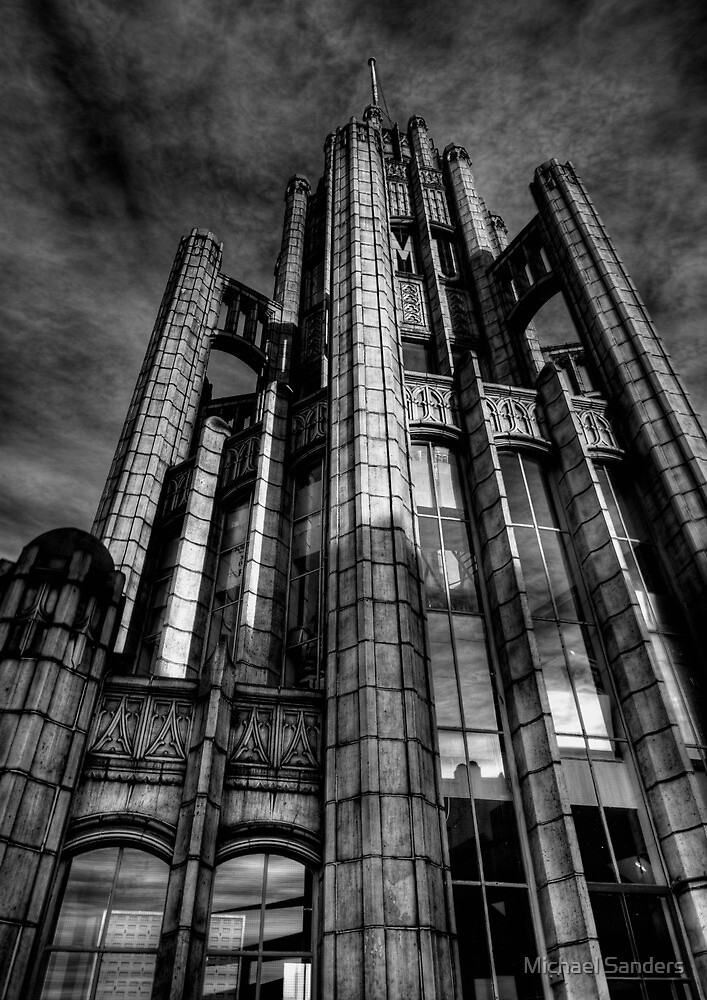 Manchester Unity Building B&W by Michael Sanders
