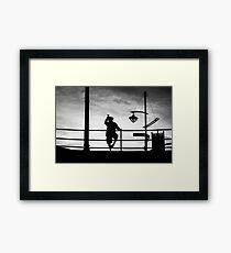 Sunset BW Framed Print