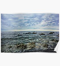 Sea,Stone,Sky Poster