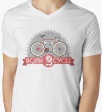 Born To Cycle Men's V-Neck T-Shirt
