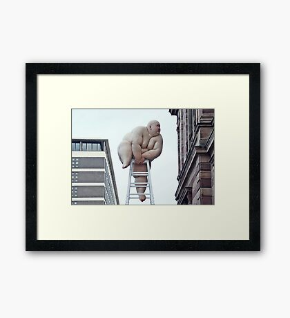 "Looking for the New Year (""Fix"" by Mou Baiyan) Framed Print"