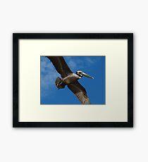I'm Flying Like A Bird Through The Sky - Estoy Volando Como Un Pajaro En El Cielo Framed Print