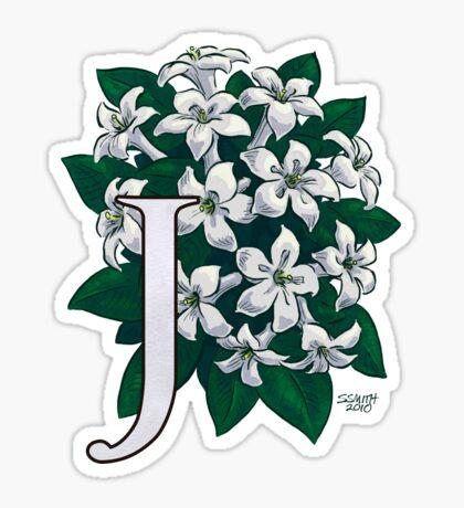 J is for Jasmine - full image Sticker