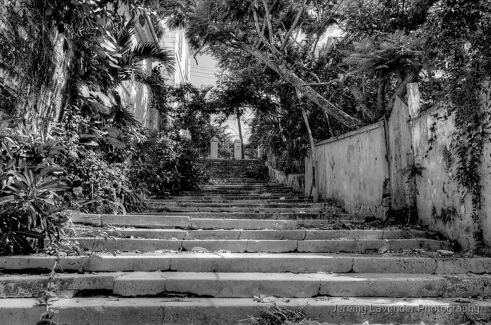Stairs at the end of Queen Street in Nassau, The Bahamas by Jeremy Lavender Photography