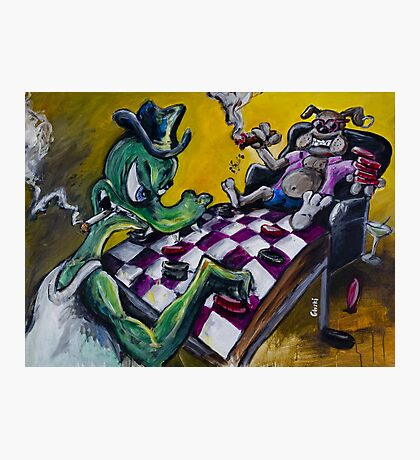 The Checker Game Photographic Print