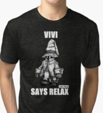 Vivi Says Relax - Sketch Em Up - White Tri-blend T-Shirt