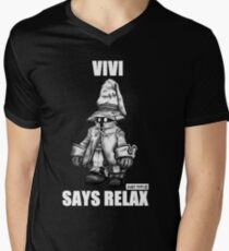 Vivi Says Relax - Sketch Em Up - White Men's V-Neck T-Shirt