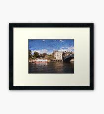York river Ouse on texture Framed Print