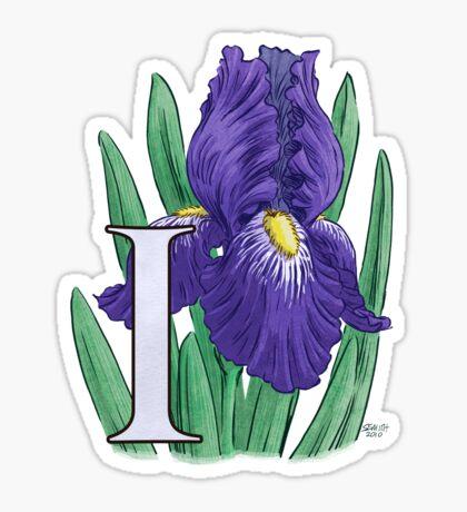 I is for Iris - full image Sticker