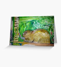 Beaver continued Greeting Card