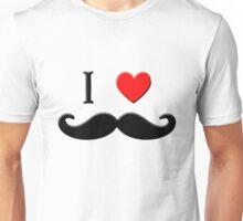 I LOVE Mustache Unisex T-Shirt
