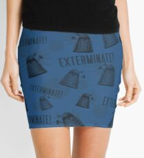 Daleks - Blue Mini Skirt