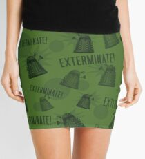 Daleks - Green Mini Skirt