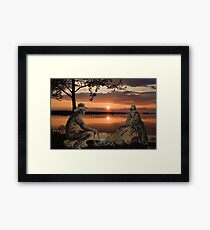 (◡‿◡✿) (◕‿◕✿) SUNSET COWBOYS PICTURE-PILLOW-TOTE BAGS- CELL PHONE COVERS ECT... (◡‿◡✿) (◕‿◕✿) Framed Print