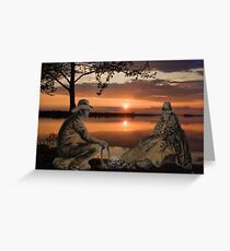 (◡‿◡✿) (◕‿◕✿) SUNSET COWBOYS PICTURE-PILLOW-TOTE BAGS- CELL PHONE COVERS ECT... (◡‿◡✿) (◕‿◕✿) Greeting Card