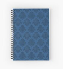 Tardis Damask - Blue Spiral Notebook