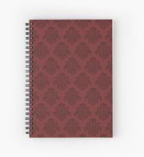 Tardis Damask - Red Spiral Notebook