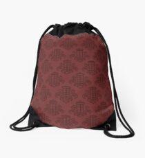 Tardis Damask - Red Drawstring Bag