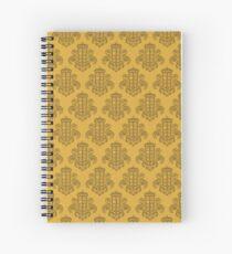 Tardis Damask - Yellow Spiral Notebook