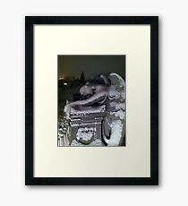 The Angel and The Phone Box 2 Framed Print