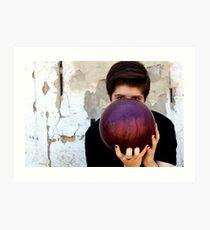 Bowling ball Art Print