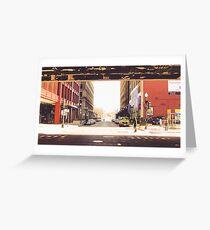 Between Two Urban Passageways Greeting Card