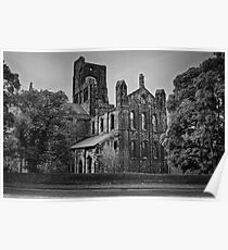 Kirkstall Abbey (B&W) Poster