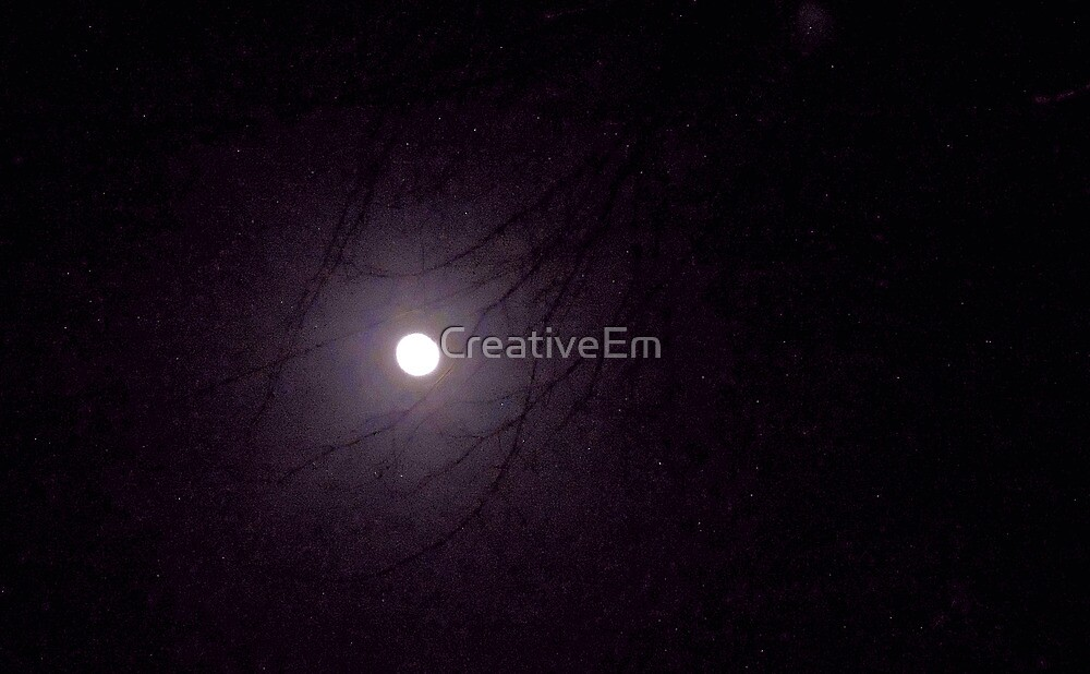 Moonlight through the Trees by CreativeEm