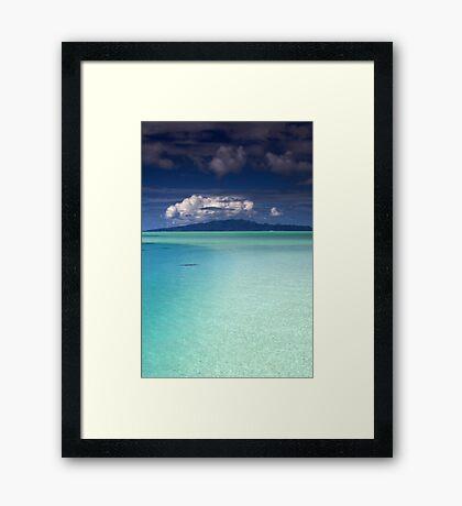 Bora Bora Lagoon Framed Print
