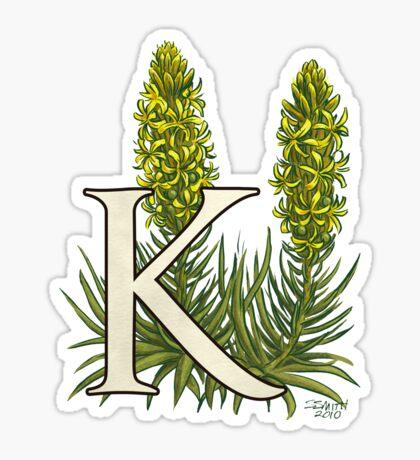 K is for King's Spear - full image shirt Sticker