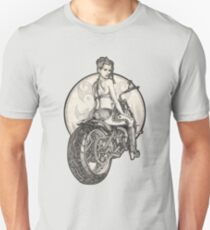 Retro Motorcycle Pinup Girl T-Shirts and Hoodies T-Shirt