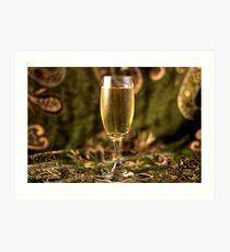 Still Life - Champagne & Green 2 Art Print