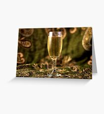 Still Life - Champagne & Green 2 Greeting Card
