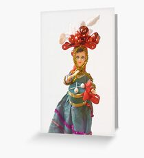 Doll Christmas ornament, little drummer girl Greeting Card