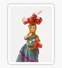 Doll Christmas ornament, little drummer girl Sticker