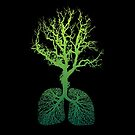 Green Earth Lungs iPhone case by metronomad