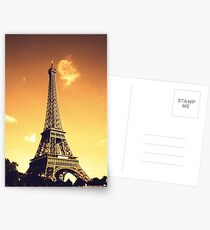 Eiffel Tower in Sepia Postcards