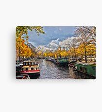 Amsterdam Prinsengracht HDR Canvas Print