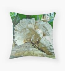 Pleated Fan - Shelf or Bracket Fungus Throw Pillow
