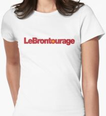 LeBrontourage│Red & Gold Women's Fitted T-Shirt