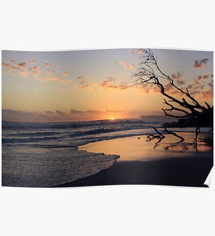 kingscliff beach sunrise ... Poster
