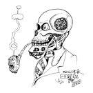 Skull Zombie Steam Piper by ADzArt