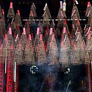 Incense coils at Goddess of the Sea pagoda in Saigon's China Town. by geof
