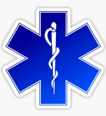 Ambulance Blue Star of Life Sticker