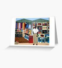 Market Stall in Dominican Republic - All products Greeting Card