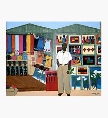 Market Stall in Dominican Republic - All products Photographic Print